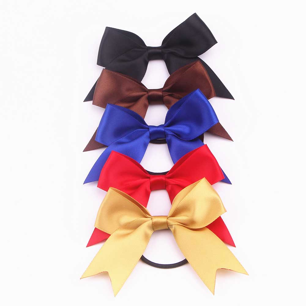 Fishtail Satin Ribbon Bow with Elastic
