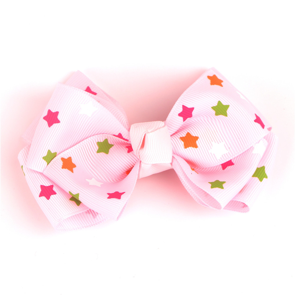 Star Grosgrain Ribbon Hair Bow