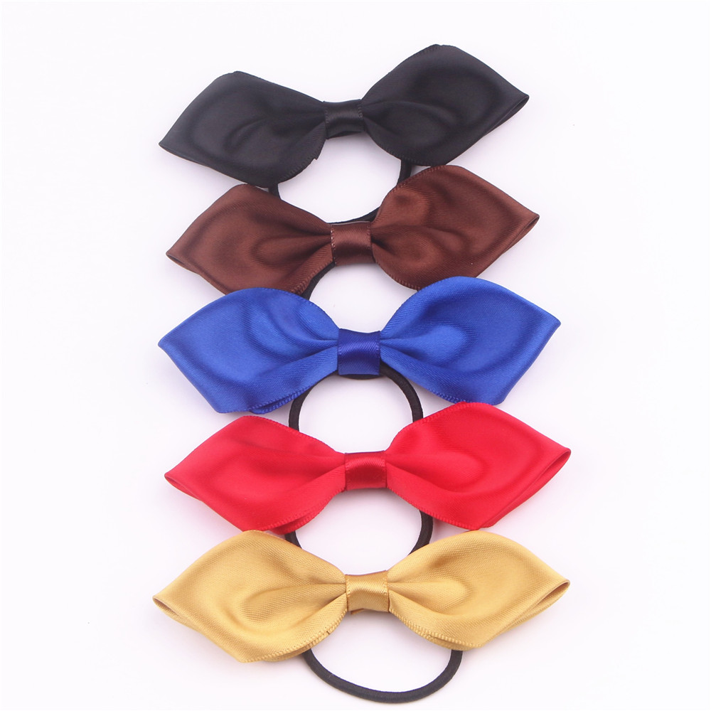 Satin Ribbon Bow with Elastic FQ01305