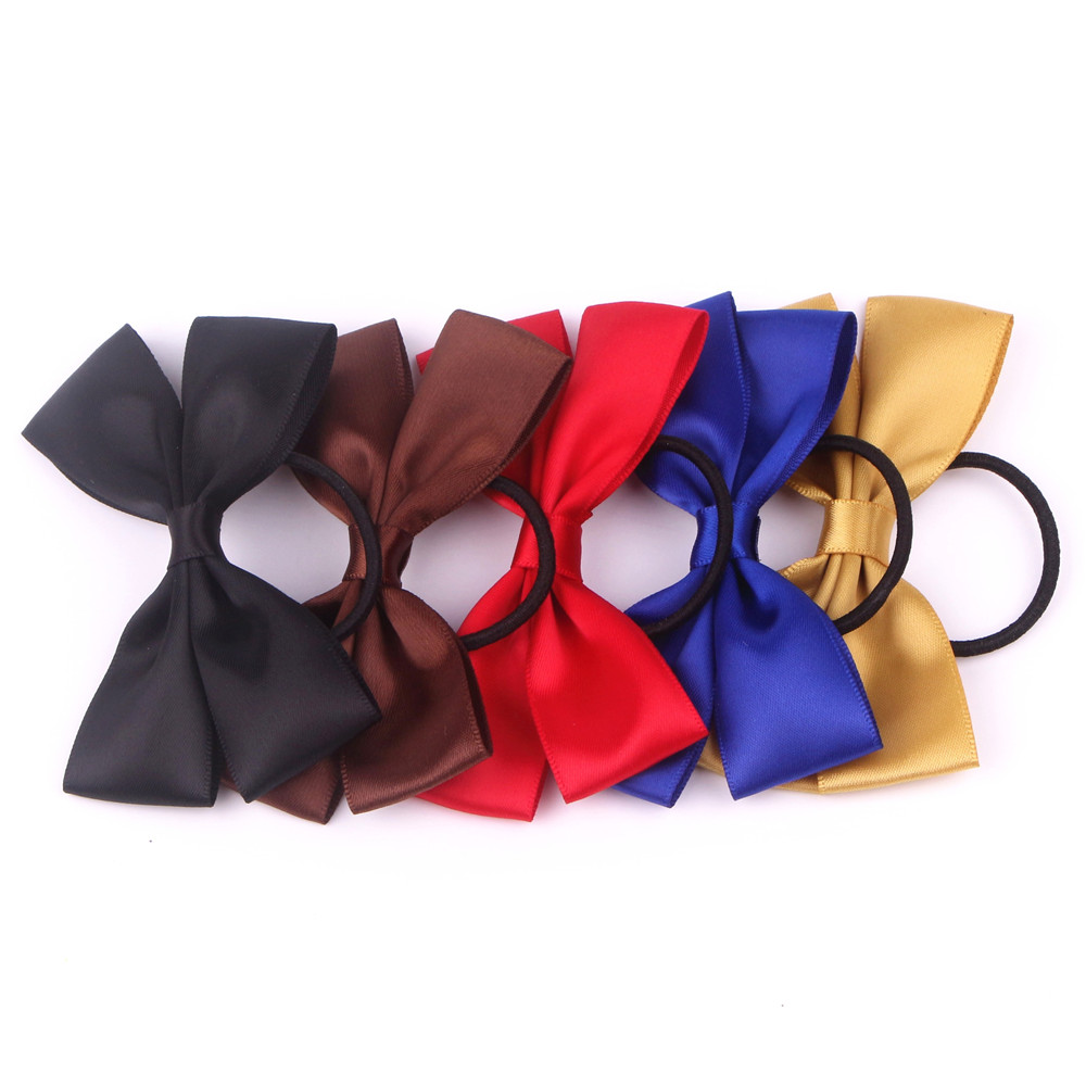 Satin Ribbon Bow with Elastic FQ01005