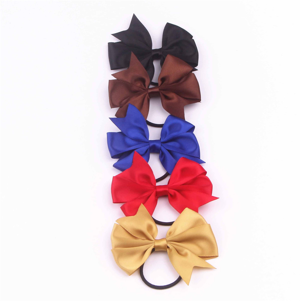 Satin Ribbon Bow with Elastic FQ01605