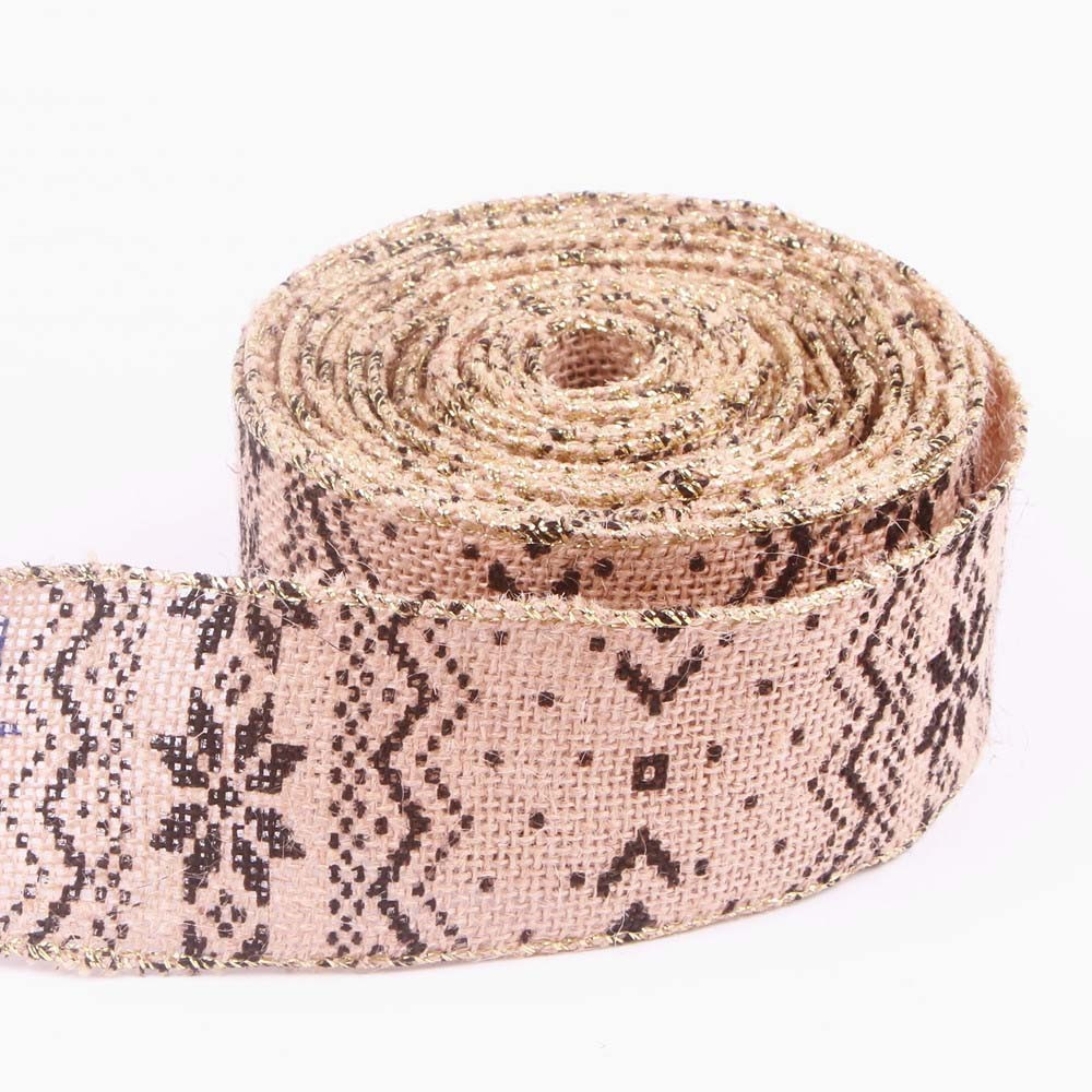 Wired Edge Burlap Ribbon MD00101