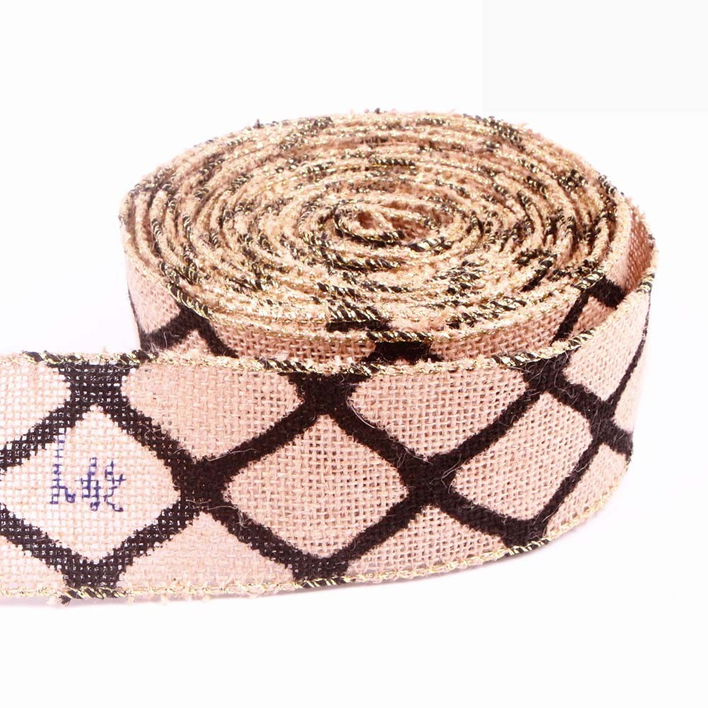 Wired Edge Burlap Ribbon MD00106