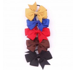 Grosgrain Ribbon Bow with Elastic FQ01805