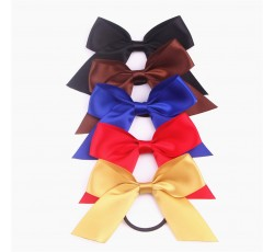Satin Ribbon Bow with Elastic FQ00705