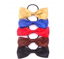 Satin Ribbon Bow with Elastic FQ00905
