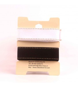 Stitched Grosgrain Ribbon 2 in 1 Assortment 01