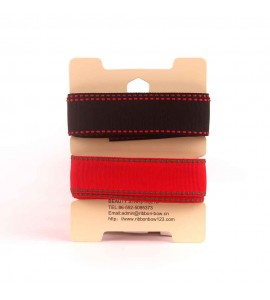 Stitched Grosgrain Ribbon 2 in 1 Assortment 02