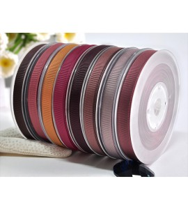 Polyester Grosgrain Ribbon Brown Series