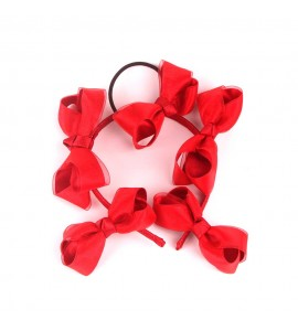 Red Satin Ribbon Hair Band d FJDZ001