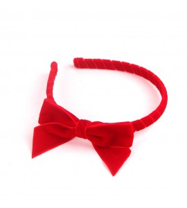 Red Velvet Ribbon Hair Band RDFG01001