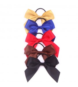 Satin Ribbon Bow with Elastic FQ00805