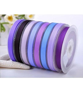 Solid Polyester Grosgrain Ribbon Purple Series