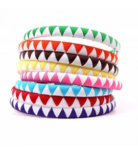 Bicolor Grosgrain Ribbon Hair Band