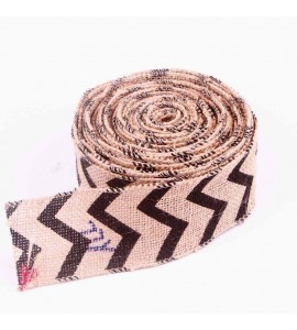Zigzag Wired Edge Burlap Ribbon