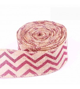 Christmas Zigzag Wired Burlap Ribbon