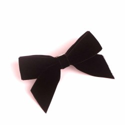 Black Velvet Ribbon Hair Clip RDFJ01301