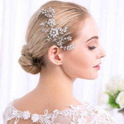 Bridal Crystal Rhinestone Flower Hair Combs