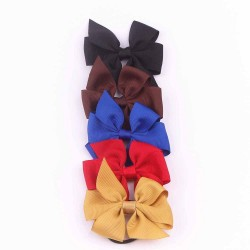 Grosgrain Ribbon Bow with Elastic FQ01705