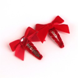 Red Velvet Ribbon Hair Clip RDBBJ00201