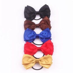 Satin Ribbon Bow with Elastic FQ01405