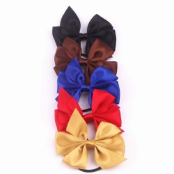 Satin Ribbon Bow with Elastic FQ01505