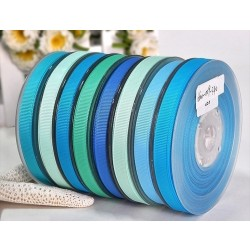 Solid Polyester Grosgrain Ribbon Blue Series