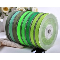Solid Polyester Grosgrain Ribbon Green Series