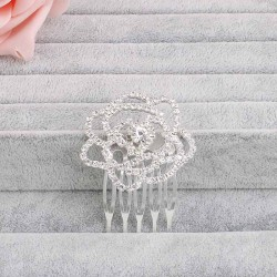 Sweet Plant Pattern Rhinestone Flower Bridal Wedding Hair Combs