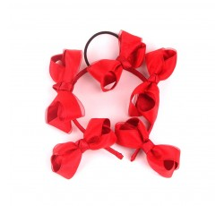 Red Satin Ribbon Hair Band d FJDZ001