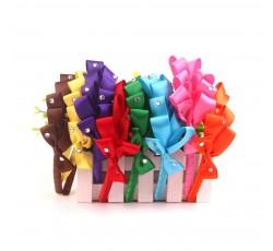 Satin Ribbon Hair Band with Gemstone FG01008