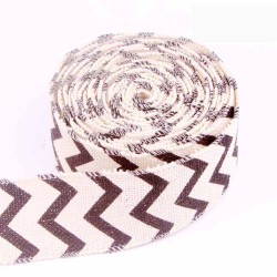 Chevron Wired Edge Burlap Ribbon